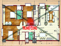 phongthuytrungcung1 Trung cung của căn hộ