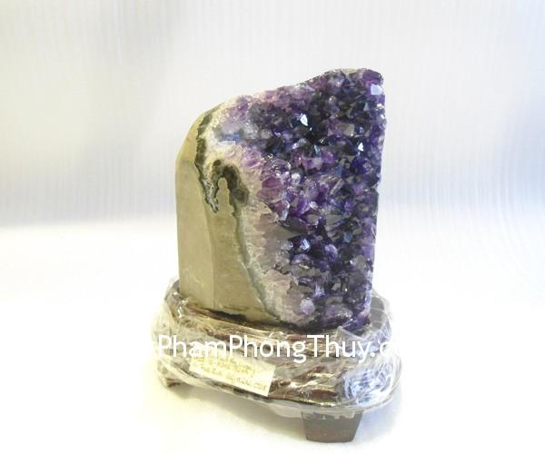 TA101 S3 11242 01 Bông đá quý phong thủy thạch anh tím tự nhiên mang nhiều năng lượng TA101 11242