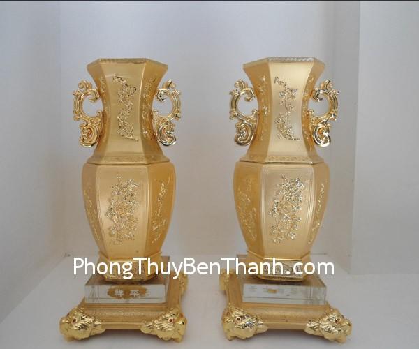 binh hop kim 01 Bình tài lộc vàng hợp kim phú quý như ý B035