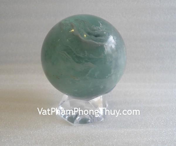 cau da quang xanh QC211 1643 1 Quả cầu đá quý phong thủy dạ quang xanh công việc trơn tru QC211 1643