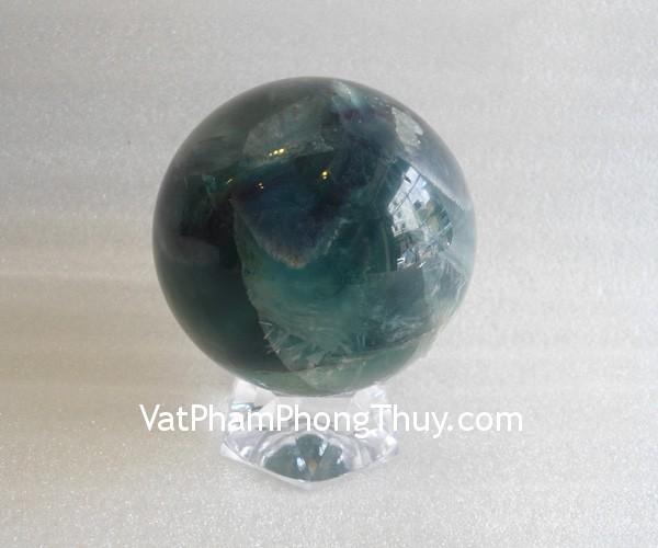cau da quang xanh QC211 1800 Quả cầu đá quý phong thủy dạ quang xanh hợp mệnh Hỏa QC211 1800
