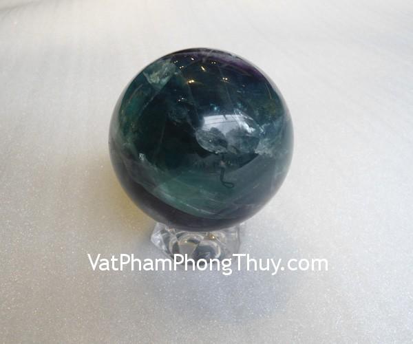 cau da quang xanh QC211 2131 01 Quả cầu đá quý phong thủy dạ quang xanh công việc thuận lợi QC211 2131