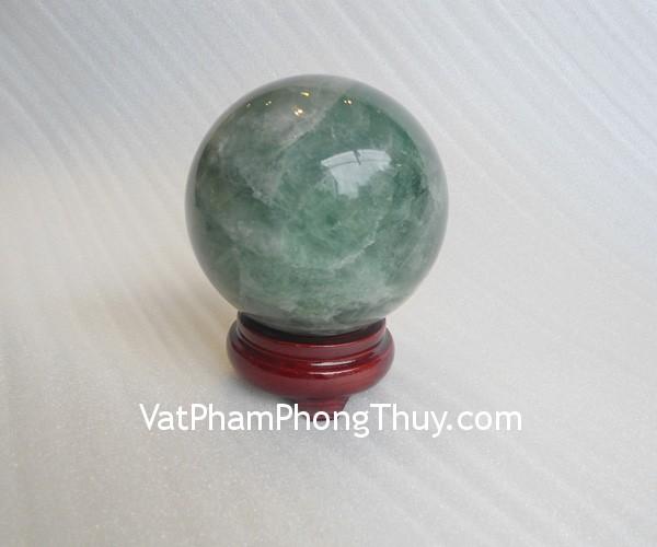 cau da quang xanh QC211 7213 02 Quả cầu đá quý phong thủy dạ quang xanh hợp mệnh Mộc QC211 7213