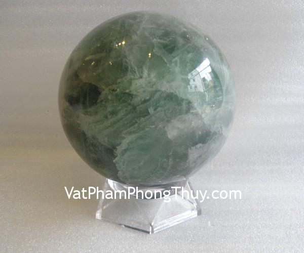 cau da quang xanh QC211 7213 1 Quả cầu đá quý phong thủy dạ quang xanh hợp mệnh KimQC211 7213
