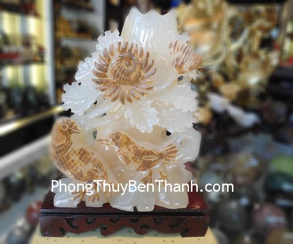 chim khuyen hoa cuc Cặp chim khuyên,biểu trưng cho hạnh phúc lứa đôi N055