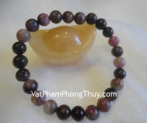 chuoi hong luc bao S2067 1206 03 Chuỗi trang sức đá hồng lục bảo tăng vẻ đẹp phụ nữ S2067 1206