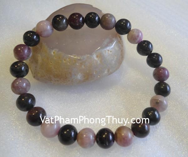 chuoi hong luc bao S2067 1232 01 Chuỗi trang sức đá hồng lục bảo tăng vẽ quyến rũ S2067 1232