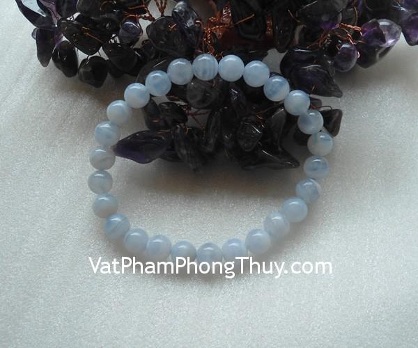 chuoi ma nao xanh s2056 508 01 Chuỗi trang sức đá mã não xanh biểu tượng may mắn S2056 508