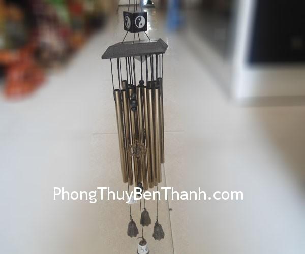 chuong gio 13 ong nau c1136 Chuông gió phong thủy treo 13 ống nâu hút năng lượng C1136