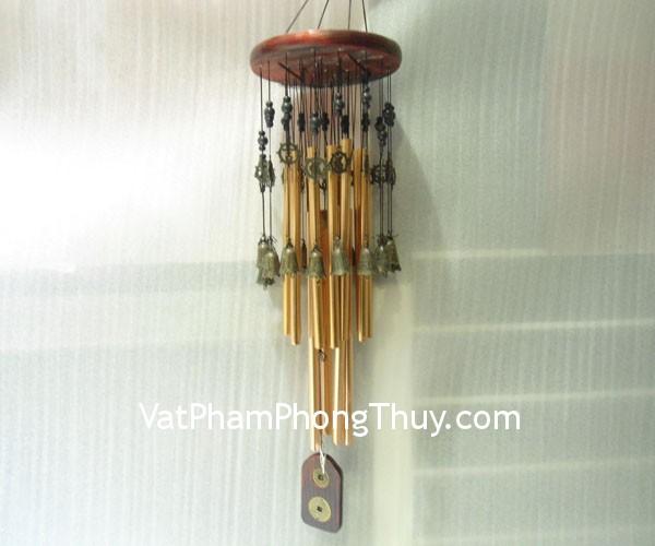 chuong gio 1999k c1236 2 Chuông gió phong thủy treo 18 ống nhôm nâu đỏ tịch tà C1236