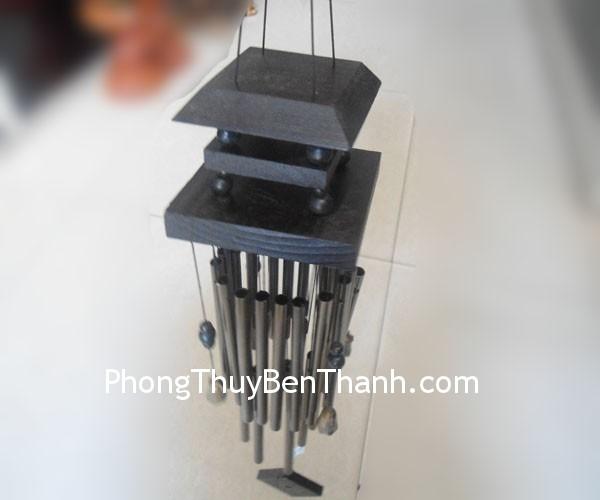 chuong gio 22 ong dong nau c1151 02 Chuông gió phong thủy treo 22 ống kim loại nhôm mang lại sinh khí C1151