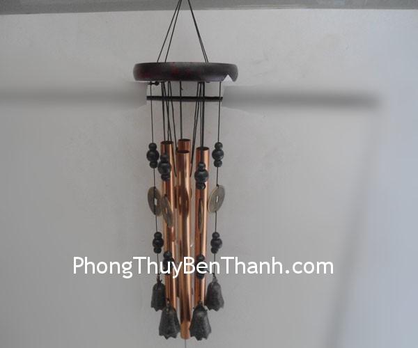 chuong gio 4 ong hong c1135 01 Chuông gió phong thủy treo 4 thanh kim loại nhôm hút sinh khí C1135