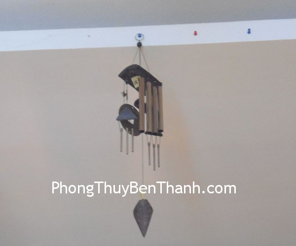 chuong gio c1121 01 Chuông gió phong thủy treo 4 thanh kim loại mang lại năng lượng C1121