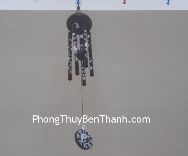 chuong gio c1129 02 Chuông gió phong thủy treo 5 thanh kim loại mang lại sinh khí C1129