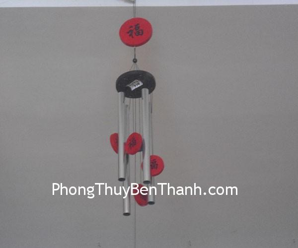 chuong gio c1131 01 Chuông gió phong thủy treo 4 thanh kim loại vượng sinh khí C1131