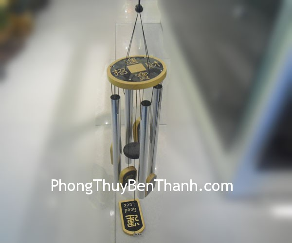 chuong gio c1133 01 Chuông gió phong thủy treo 4 thanh kim loại thu sinh khí C1133