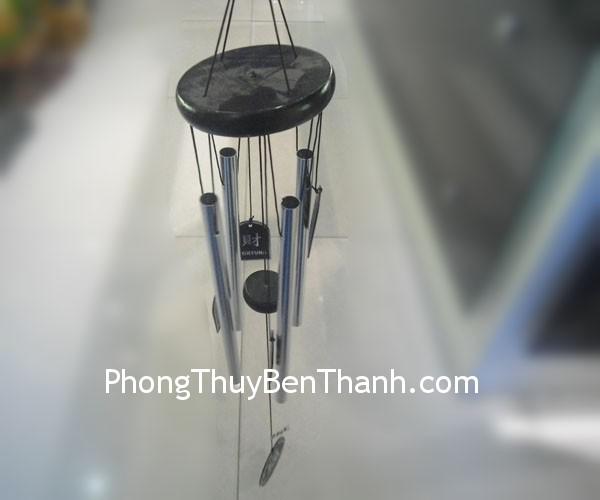 chuong gio c1141 01 Chuông gió phong thủy treo 4 ống trắng trừ giải sao ngũ Hoàng C1141