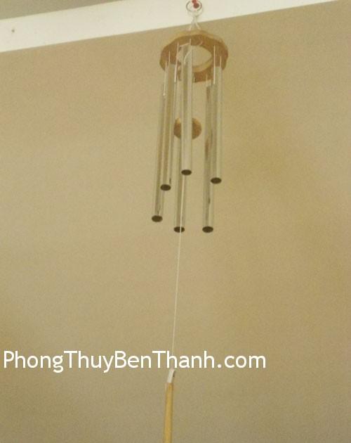 chuong gio c11441 Chuông gió phong thủy treo 6 thanh kim loại thu hút năng lượng C1144