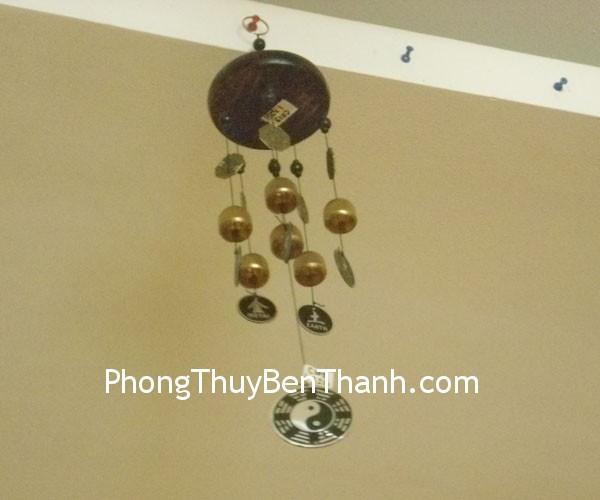 chuong gio ong dong c1119 02 Chuông gió phong thủy treo 6 ống bát quái kim loại hóa giải hung khí C1119