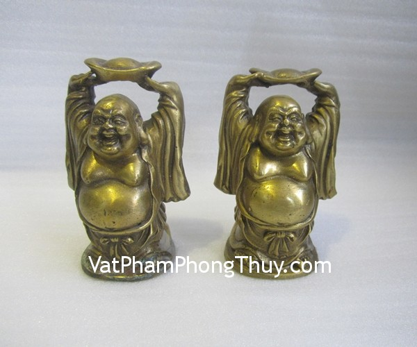d137 di lac cong vang Phật Di lặc đồng nguyên chất nâng đỉnh vàng vui vẻ an lạc D137