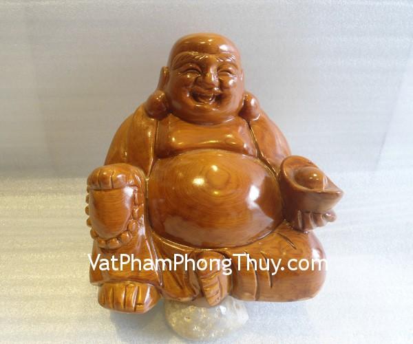 di lac go pdlmu 2 Phật Di Lặc ngồi gỗ Pơ Mu Việt Nam vui vẻ hạnh phúc PDL MU