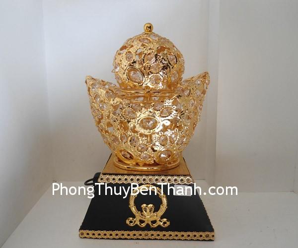 dinh vang kim bao F164 02 Kim nguyên bảo hợp kim mạ vàng Quảng Đông sinh tài vượng tài F164