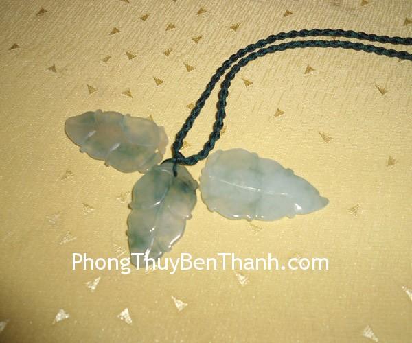 la ngoc phi thuy 01 Mặt trang sức chiếc lá đá Phỉ Thúy biểu tượng bình an S670