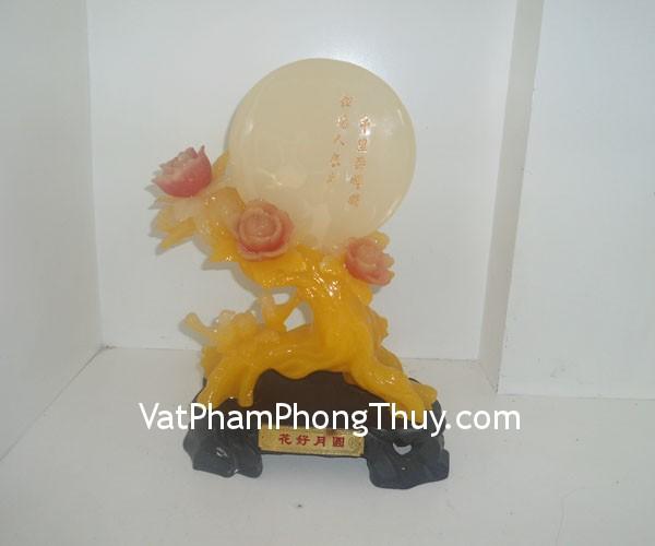 mau don hoa hao nguyet vien f171 01 Hoa Mẫu đơn nguyệt viên bột đá màu Quảng Đông thịnh vượng phú quý F171