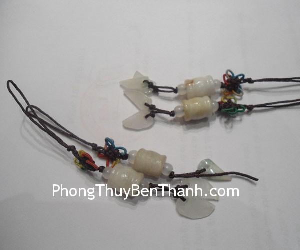 moc dt tru chu thap s520 01 Móc khóa kết trụ chữ thập đá ngọc Miến Điện hợp mệnh Kim S520
