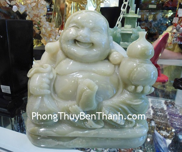 phat di lac ngoi Phật Di Lặc đá cẩm thạch phong thủy vui vẻ như ý PDL CTN
