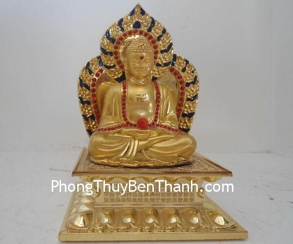 phat to b107 02 Tượng Phật tổ bình phong hợp kim chế hóa hung khí B107