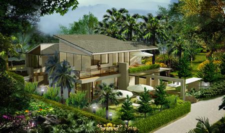 phong thuy cho cay xanh trong biet thu nha vuon1 Trống cây xanh trong vườn tăng sinh khí cho ngôi nhà