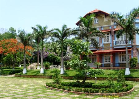 phong thuy cho cay xanh trong biet thu nha vuon2 Trống cây xanh trong vườn tăng sinh khí cho ngôi nhà