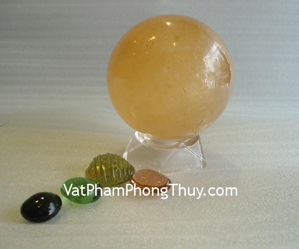 qc thach anh vang non QC208 2020 2 Quả cầu đá quý phong thủy thạch anh vàng non biểu tượng của tài lộc QC208 2020