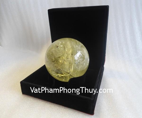 qua cau thach anh vang dac biet QC212 10575 02 Quả cầu đá quý phong thủy thạch anh vàng tinh thể đặc biệt thu hút tài lộc QC212 10575
