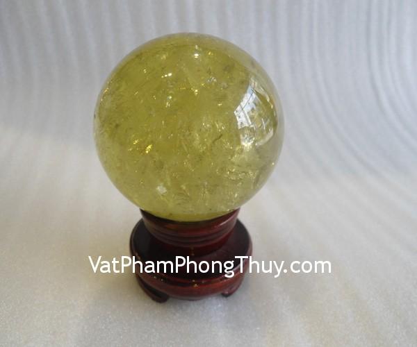 qua cau thach anh vang dac biet QC212 11238 Quả cầu đá quý phong thủy thạch anh vàng tinh thể đặc biệt biểu tượng doanh nhân QC212 11238