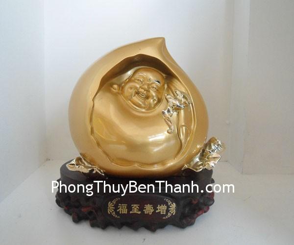 qua dao di lac f150 02 Tượng Phật Di Lạc tại kỳ trung bột đá mạ vàng ban phước nạp tài F150
