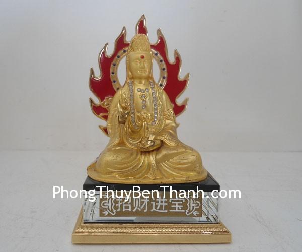 quan am b104 02 Phật Quan âm cầu lửa hợp kim mạ vàng mang lại điềm lành B104