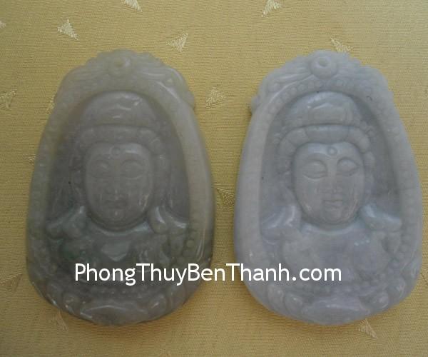 quan am phi thuy 011 Mặt trang sức phật Quan Âm đá ngọc Phỉ Thúy mang phước bình an S583