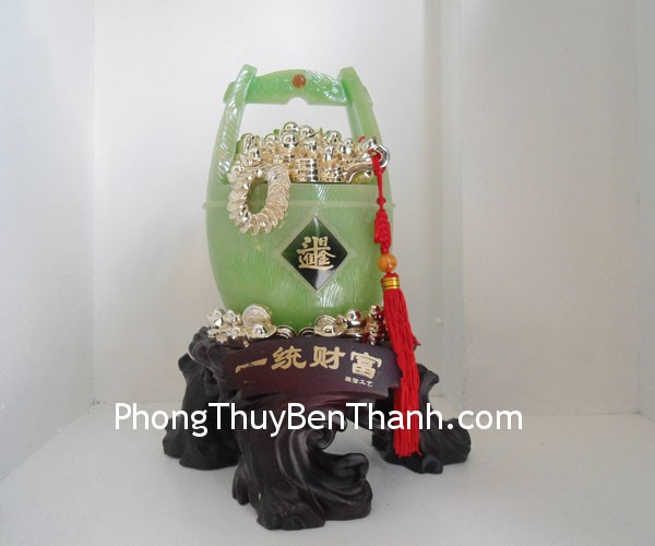 thung vang b079 02 Thùng vàng bột đá màu Quảng Đông tài phú sung túc B079