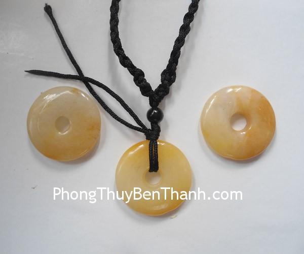 tien hoang long s686 01 Mặt trang sức đồng tiền ngọc bội đá Hoàng Long tài lộc dồi dào S686