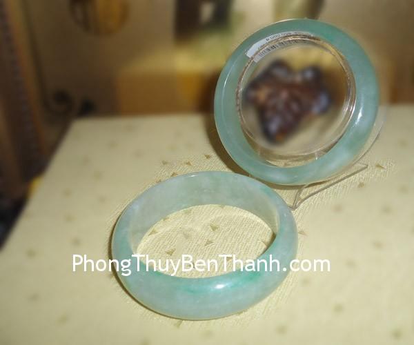 vong cam thach 01 Vòng trang sức đá ngọc Cẩm Thạch xanh lý tăng thêm quyến rũ S458