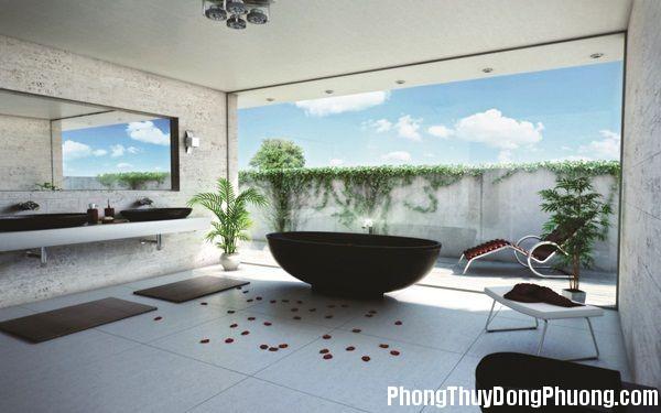 20131219042516182 Phong thủy bài trí phòng tắm hiện đại