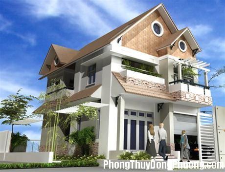 Phối cảnh mặt tiền nhà Phong thủy cho mặt tiền và hậu ngôi nhà