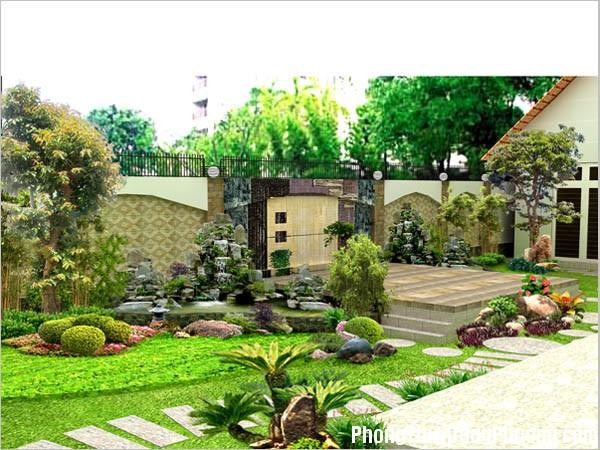 d17 Thiết kế sân vườn theo nguyên tắc ngũ hành