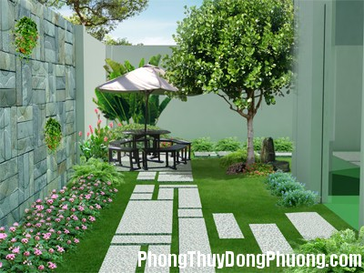 thiet ke san vuon Lưu ý khi rải sỏi đá trong sân vườn