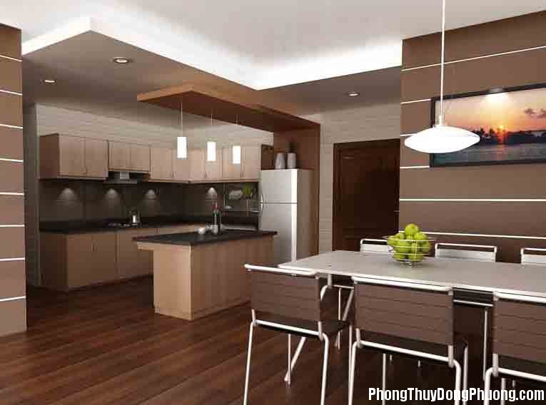 phong bep nha pho 2 Phong thủy nhà bếp quyết định sự thịnh vượng của ngôi nhà