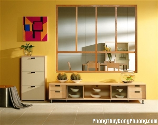 bai tri tu giay hop phong thuy 3 Bài trí tủ giày giữ hòa khí trong nhà