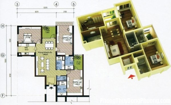 chungcu12 Phong thủy điều chỉnh cho căn hộ chung cư