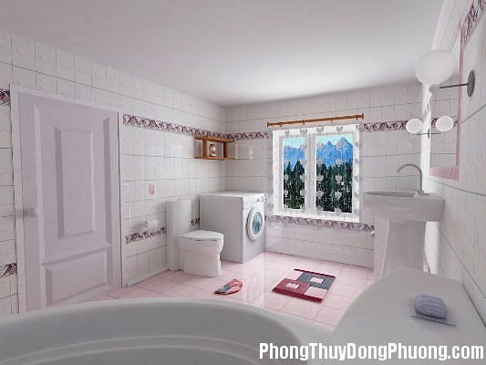 phong thuy nha ve sinh 2 Cách hóa giải phong thủy xấu của nhà vệ sinh
